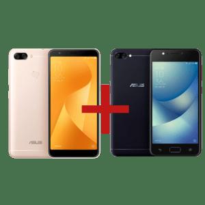 Zenfone Max Plus (M1) 3GB/32GB Dourado + Zenfone Max (M1) 2GB/32GB Preto