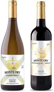 Kit com 2 Vinhos Espanhol Monte Ory Tinto e Branco D.O Navarra 2018