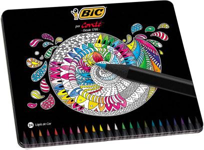 Lápis de Cor BIC Conté, Estojo com 24 cores, 930068, 1 unidade