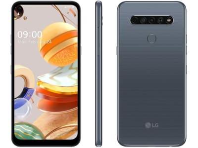 """Confira ➤ Smartphone LG K61 128GB Titânio 4G Octa-Core – 4GB RAM 6,53"""" Câm. Quádrupla + Selfie 16MP – Magazine ❤️ Preço em Promoção ou Cupom Promocional de Desconto da Oferta Pode Expirar No Site Oficial ⭐ Comprar Barato é Aqui!"""