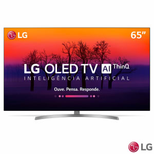 "Smart TV OLED 4K 65"" LG 65B8 4 HDMI 3 USB Wi-Fi ThinQ Ai Controle Smart Magic 120Hz - OLED65B8SSC"