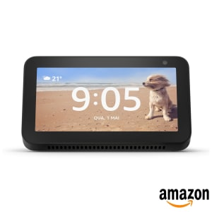 "Smart Speaker Echo Show 5 Amazon Tela de 5.5"" Alexa em Português"