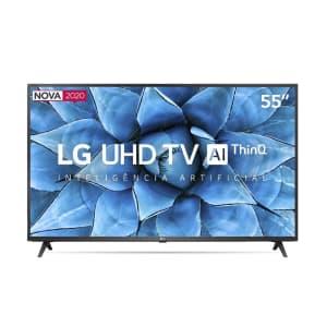 """Smart TV LED 55"""" 4K LG 55UN7310PSC 3 HDMI 2 USB Bluetooth Wi-Fi"""