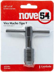 """Vira Macho Tipo T De 1/8"""" A 1/4"""", 55 Mm, Nove54 Nove 54"""