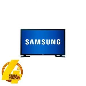 """TV Slim LED Samsung 32"""" HD com Conversor Digital Integrado, Função Futebol, Connect Share Movie, Conexão HDMI e USB - 32J4000"""