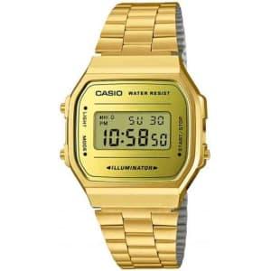 Relógio Casio Unissex Dourado Vintage A168WEGM-9DF