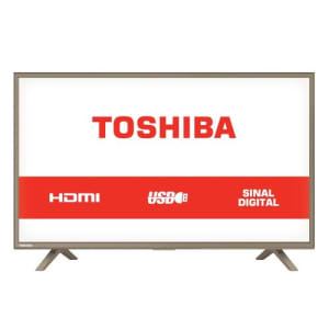 TV LED 32 Polegadas Semp Toshiba HD USB HDMI 32L1800