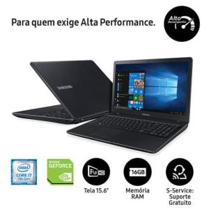 """Oferta ➤ Notebook Samsung Core i7-7500U 16GB 1TB Placa Gráfica 2GB Tela Full HD 15.6"""" Windows 10 Expert NP300E5M-XF4BR   . Veja essa promoção"""
