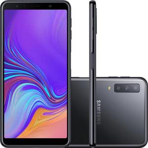 "Smartphone Samsung Galaxy A7 64GB Dual Chip 4GB RAM Tela 6"" Câmera Tripla"