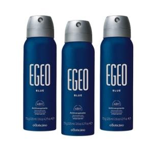 Combo Egeo Blue: 3 Desodorantes Antitranspirantes Aerosol
