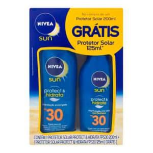 Protetor Solar Fps30 200ml + Gts Prot Fps30 100ml Nivea Sun Kit