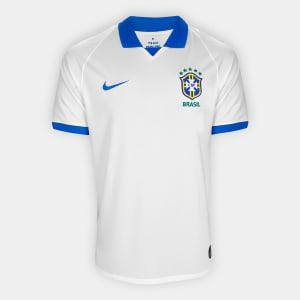 Camisa Seleção Brasil III 19/20 s/nº Torcedor Nike Masculina - Branco