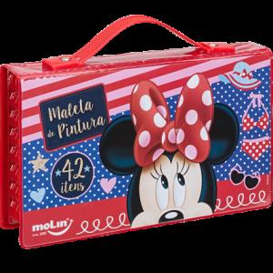 Maleta De Pintura Molin 42 Itens Disney Minnie