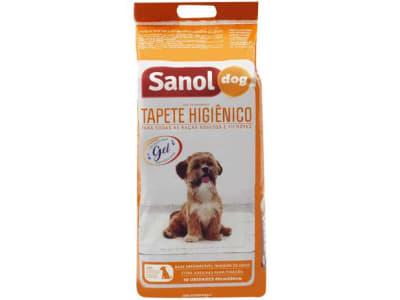 Tapete Higiênico Sanol Dog 80x60cm - 30 Unidades - Magazine Ofertaesperta
