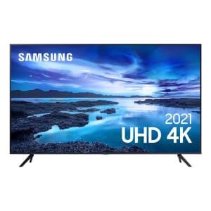 Samsung Smart TV 50´´ UHD 4K 50AU7700, Processador Crystal 4K, Tela sem limites, Visual Livre de Cabos, Alexa Built In - UN50AU7700GXZD