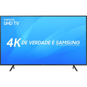 "Smart TV LED 65"" Samsung Ultra HD 4k UN65NU7100GXZD com Conversor Digital 3 HDMI 2 USB Wi-Fi Solução Inteligente de Cabos HDR Premium Smart Tizen"