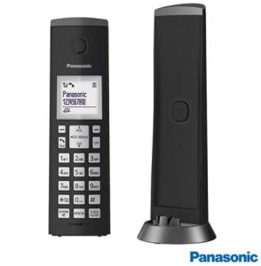 Telefone sem Fio Panasonic com Identificador de Chamadas, Viva-Voz, Visor e Teclado Iluminado - KXTGK210LBB - PAKXTGK210PTO_PRD