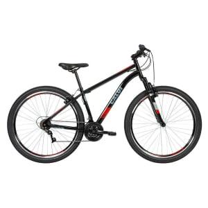 Bicicleta MTB Two Niner Aro 29 Parede Dupla - Susp Dianteira - Quadro Aço - 21 Velocidades - Preto