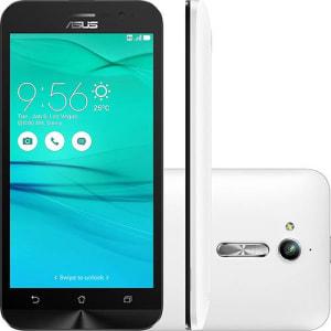 "Smartphone Asus Zenfone Go Dual Chip Android 5.1 Tela 5"" 8GB 3G Câmera 8MP - Branco"