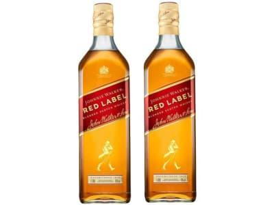 Kit Whisky Johnnie Walker Red Label Escocês 1L - 2 Unidades - Magazine Ofertaesperta