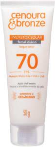 Protetor Solar Facial Cenoura e Bronze FPS70, Cenoura e Bronze, 50 g