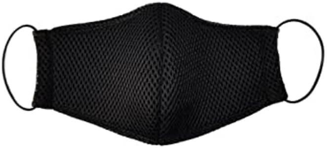 Máscara de tecido preta unissex Kit 4 unidades Maria Adna