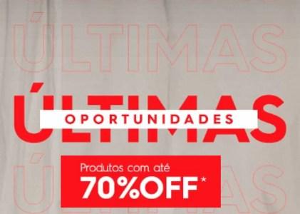 Ultima Chance - Ofertas com Até 70% OFF - Camisas, Calças, Camisetas, Jaquetas e mais!