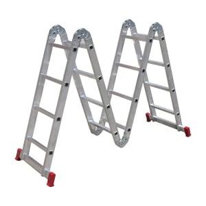 Escada Articulada 4x4 com 16 Degraus de Alumínio - BOTAFOGO-ESC0293