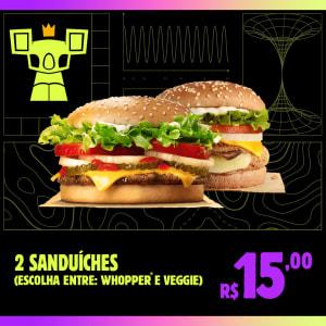 Cupom Coalático (2 Whopper Ou 2 Veggie) - Burger King