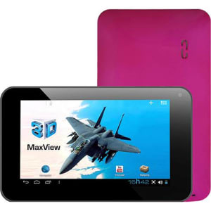 """Tablet DL 3D Max View 8GB Wi-fi Tela 7"""" Android 4.0 Processador Cortex A9 1.2GHz - Rosa"""