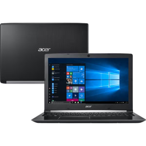 "Notebook Acer Aspire A515-51-37LG 8ª Intel Core I3 4GB 1TB LED 15,6"" W10 PRO Preto"