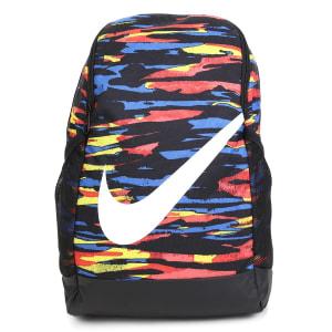 Mochila Infantil Nike Brasilia Estampada - Preto e Azul