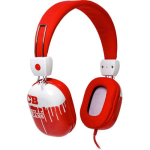Fone de Ouvido Chilli Beans Supra Auricular Vermelho e Branco HIPSTER TM-612MV/2-3