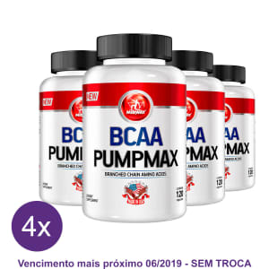 Kit 4x BCAA Pumpmax Midway 120 Caps