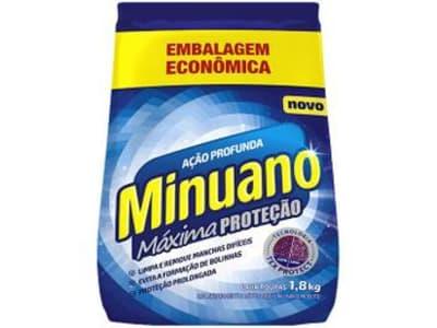 Sabão em Pó Minuano Máxima Proteção - Ação Profunda 1,8kg - Magazine Ofertaesperta