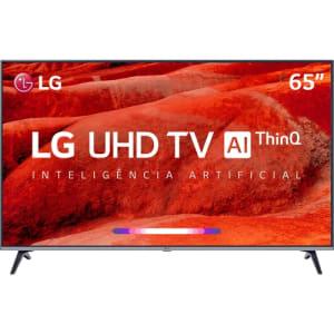 "Smart TV Led 65"" LG 65UM7520PSB Ultra HD 4K Thinq Ai Conversor Digital Integrado 4 HDMI 2 USB Wi-Fi"