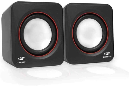 C3TECH SP-301 Speaker 2.0 Altos-Falantes para Computador, Preto
