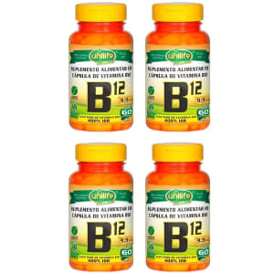 Kit 4X Vitamina B12 (cianocobalamina) 60 Cápsulas Unilife