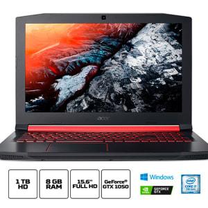 """Notebook Gamer Acer Aspire Nitro 5 i7-7700HQ 8GB 1TB GTX 1050 4 GB Tela 15.6"""" Full HD - AN515-51-77FH"""