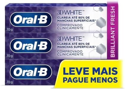 2 Unidades - Creme Dental Oral-B 3D White 70G Leve 3 Pague 2 - Oral-B