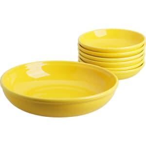 Conjunto para Macarronada 7 Peças, La Cuisine. Branca, Azul, Amarela, Goiaba