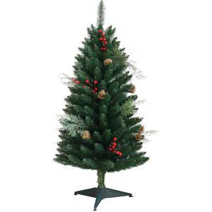 Árvore de Natal Decorada 1,2m -  200 Galhos Enfeitada com Pinhas, Frutas e Cedro - Orb Christmas