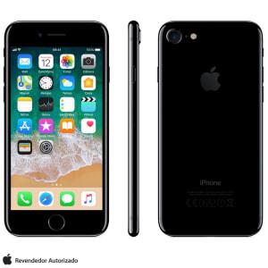 """iPhone 7 Preto Brilhante com Tela de 4,7"""", 4G, 128 GB e Câmera de 12 MP - MN962BR/A - AEMN962BRAPTO_PRD"""