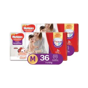 Kit de Fraldas Huggies Supreme Care Roupinha M Mega (72 Unidades) ou G (60 Unidades)