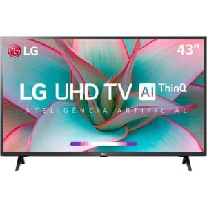 "Smart TV LG 43"" 43UN7300 Ultra HD 4K WiFi Bluetooth HDR Inteligência Artificial ThinQ AI Google Assistente Alexa IOT"