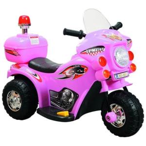 Mini Moto Elétrica Infantil Motoca Triciclo 6v Inmetro Rosa