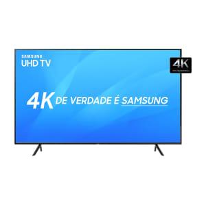 "Smart TV LED 75"" Samsung NU7100 Ultra HD 4K com Visual Livre de Cabos, HDR Premium, Tizen, Wi-Fi, 3 HDMI 2 USB"
