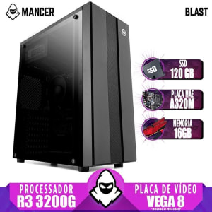 PC Gamer Mancer, AMD Ryzen 3 3200G, 16GB DDR4, SSD 120GB, 400W