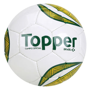 Bola de Futebol Campo Topper Brasil - Branco e Verde