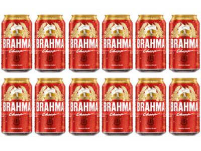 Cerveja Brahma Chopp Pilsen 12 Unidades - 350ml